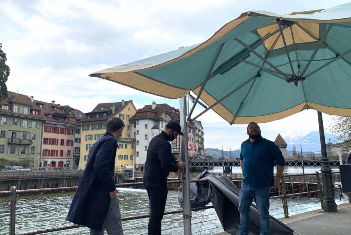 ammos restaurant - lucerne - opening terrace april 21st
