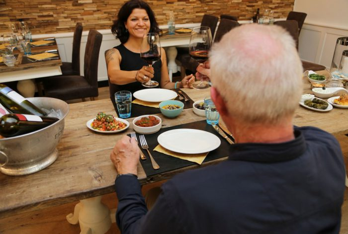 greek romance dinner vor dem start!