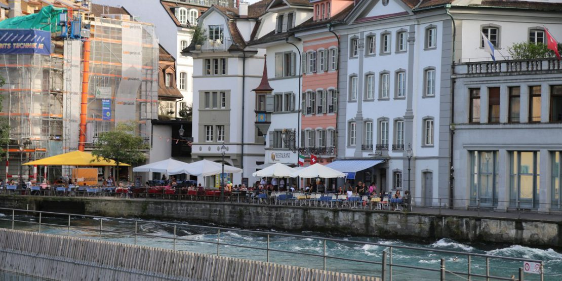Location river reuss lucerne swiss for Ammos authentic greek cuisine